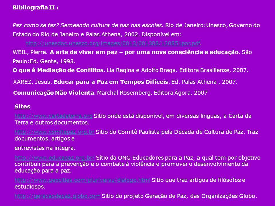 Bibliografia II :