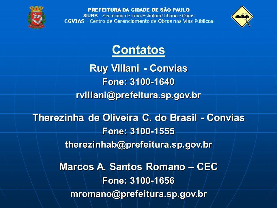 Contatos Ruy Villani - Convias