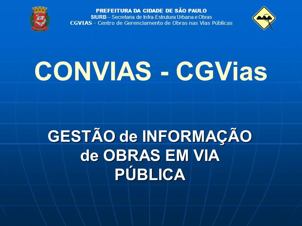 GESTÃO de INFORMAÇÃO de OBRAS EM VIA PÚBLICA
