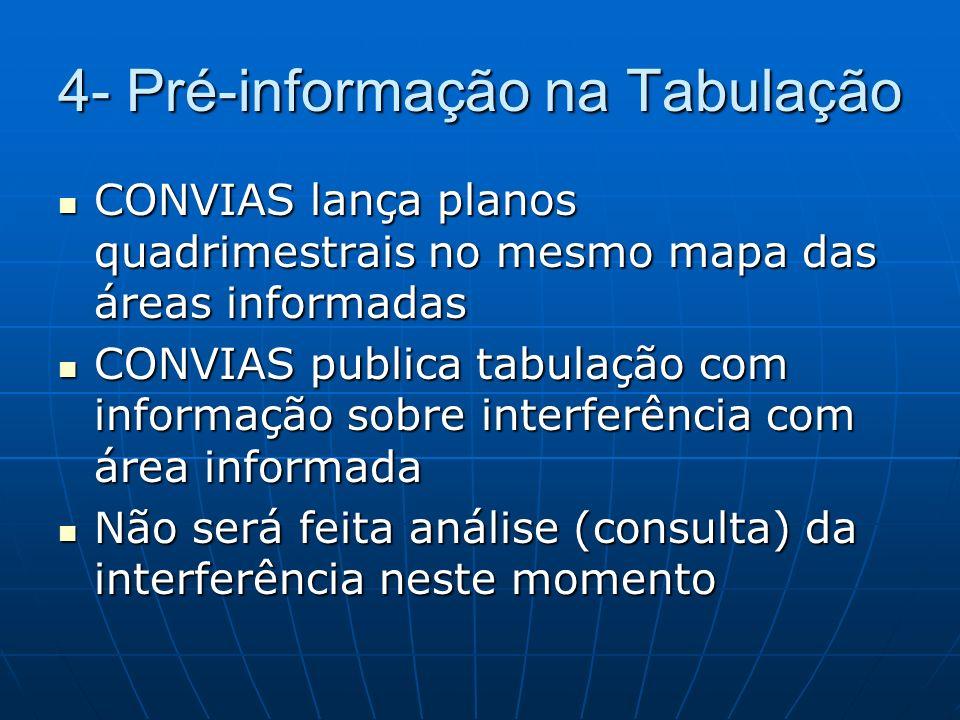 4- Pré-informação na Tabulação