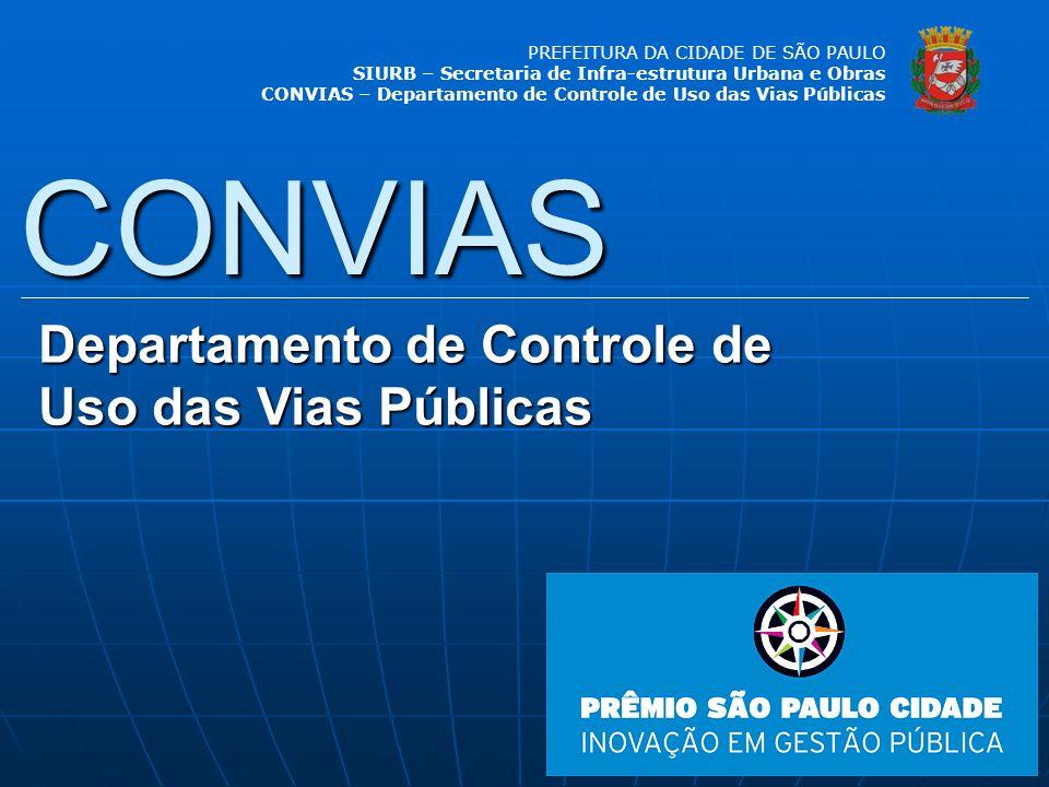 CONVIAS Departamento de Controle de Uso das Vias Públicas