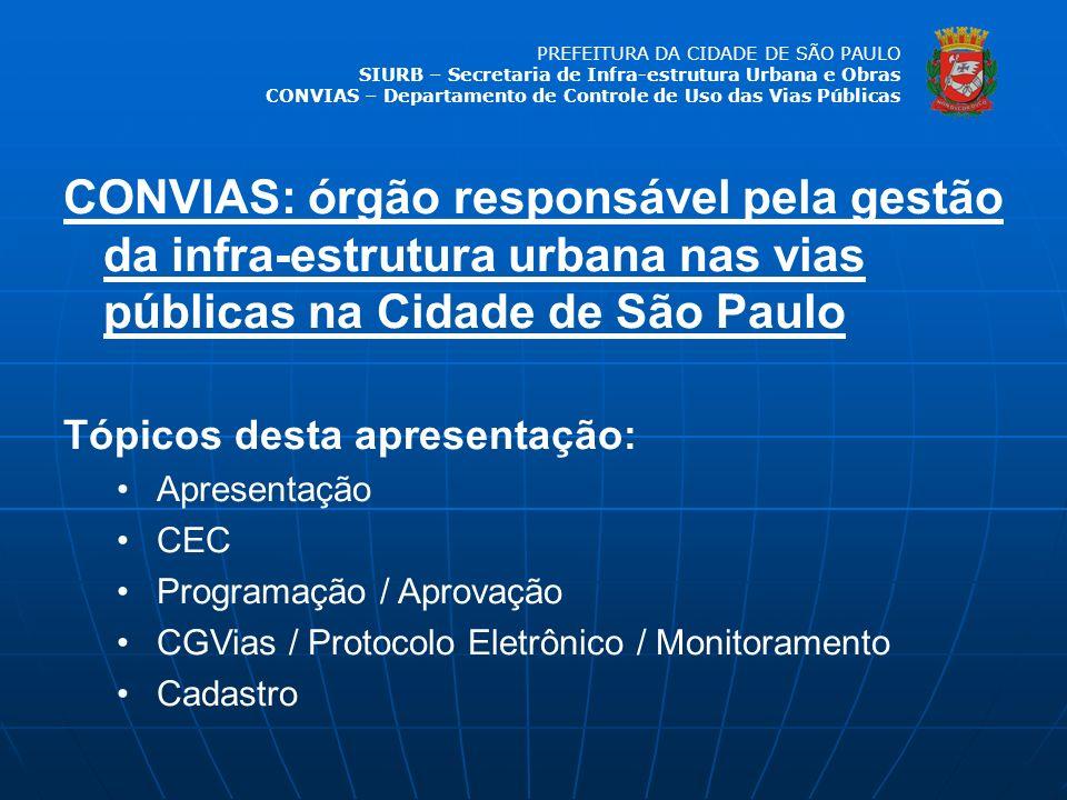 CONVIAS: órgão responsável pela gestão da infra-estrutura urbana nas vias públicas na Cidade de São Paulo
