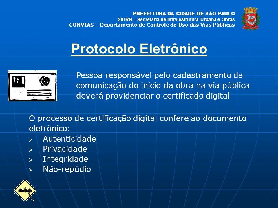 Protocolo Eletrônico Pessoa responsável pelo cadastramento da