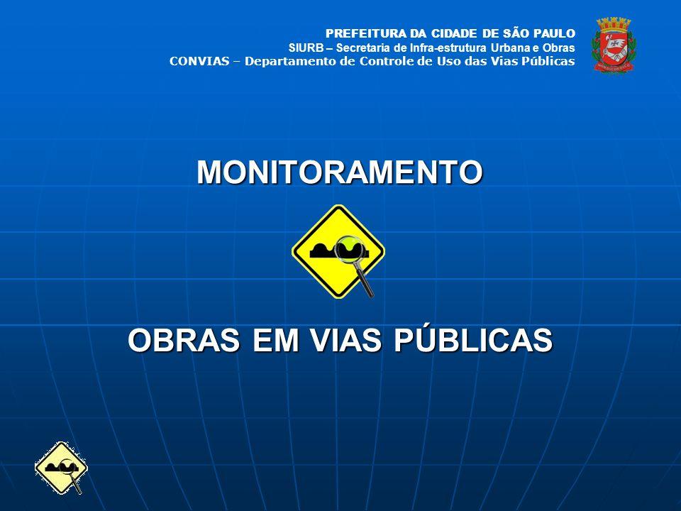 MONITORAMENTO OBRAS EM VIAS PÚBLICAS