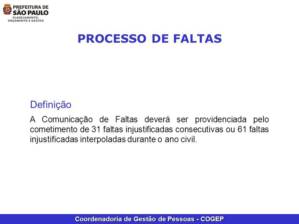 PROCESSO DE FALTAS Definição