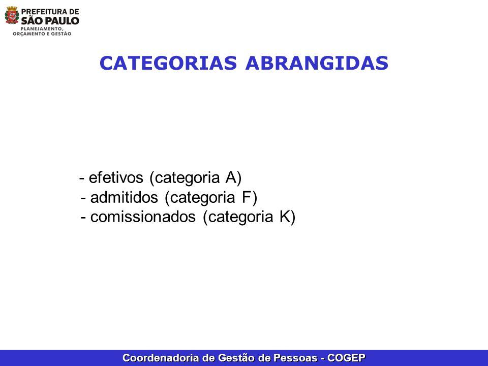 CATEGORIAS ABRANGIDAS