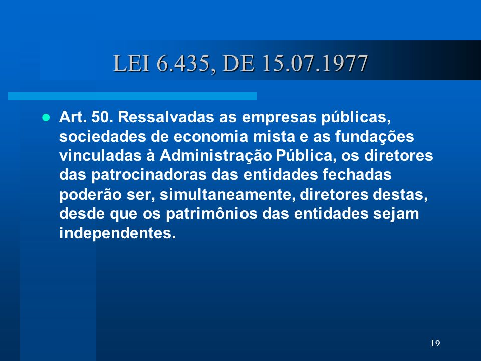 LEI 6.435, DE 15.07.1977
