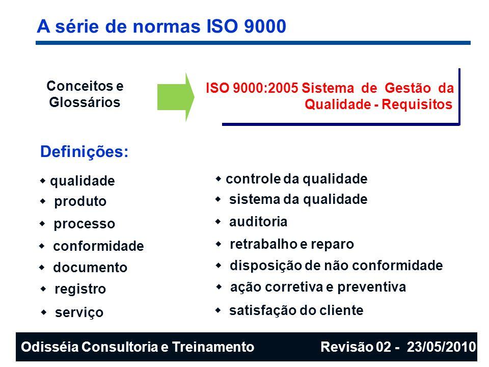 A série de normas ISO 9000 Definições: Conceitos e