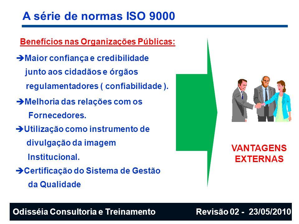 A série de normas ISO 9000 VANTAGENS EXTERNAS