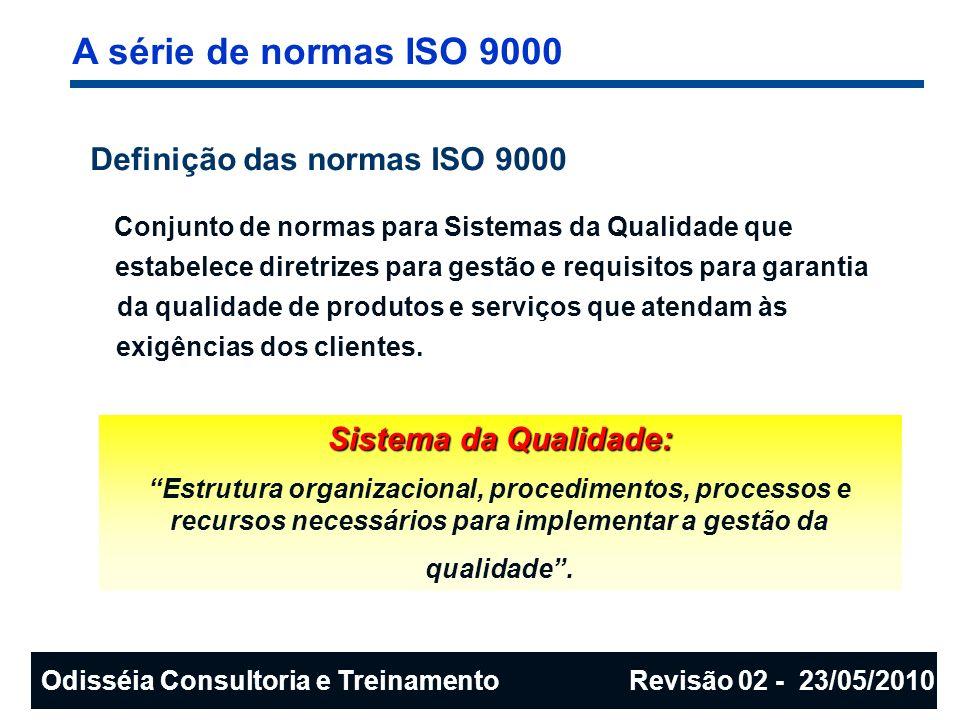 A série de normas ISO 9000 Definição das normas ISO 9000