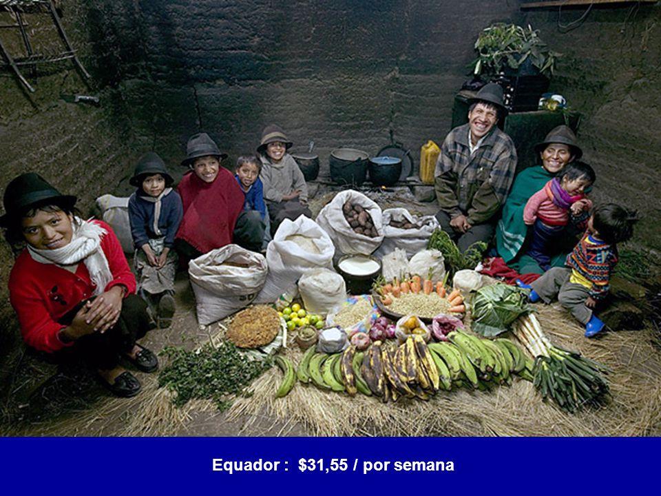 Equador : $31,55 / por semana
