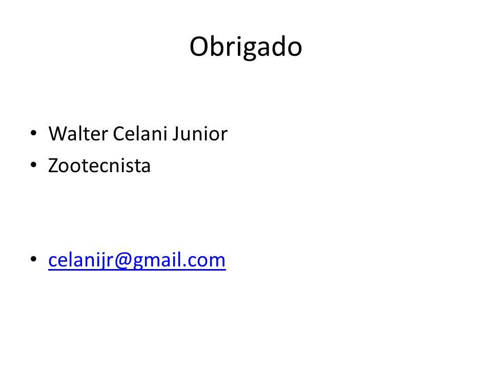 Obrigado Walter Celani Junior Zootecnista celanijr@gmail.com