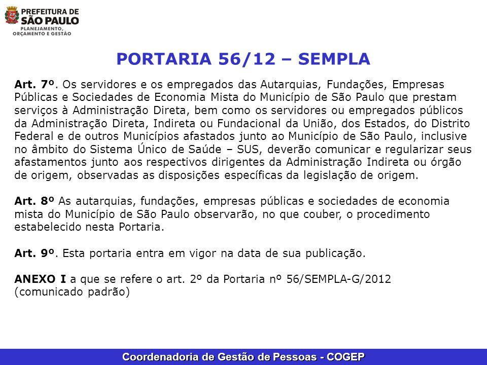 PORTARIA 56/12 – SEMPLA