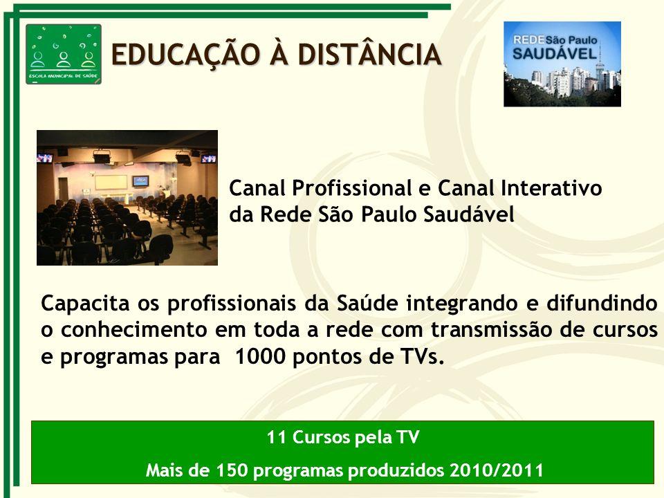 Mais de 150 programas produzidos 2010/2011