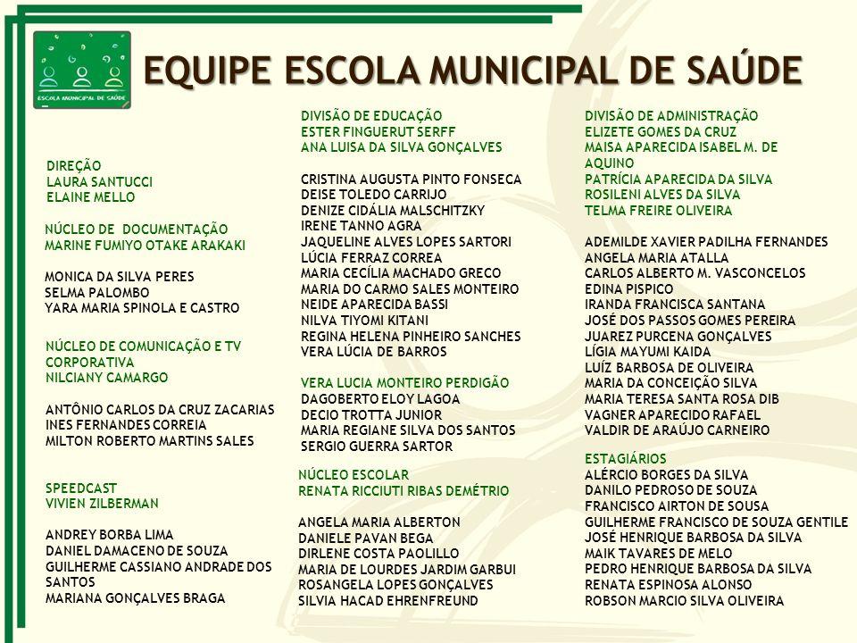 EQUIPE ESCOLA MUNICIPAL DE SAÚDE