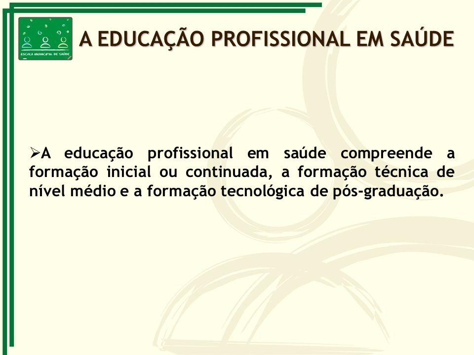 A EDUCAÇÃO PROFISSIONAL EM SAÚDE
