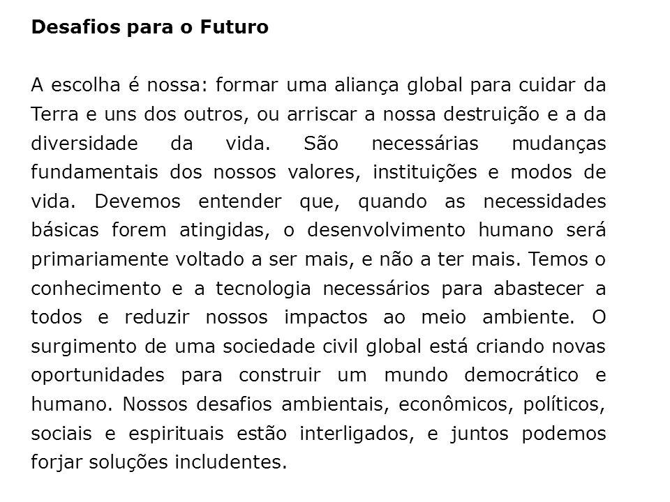 Desafios para o Futuro