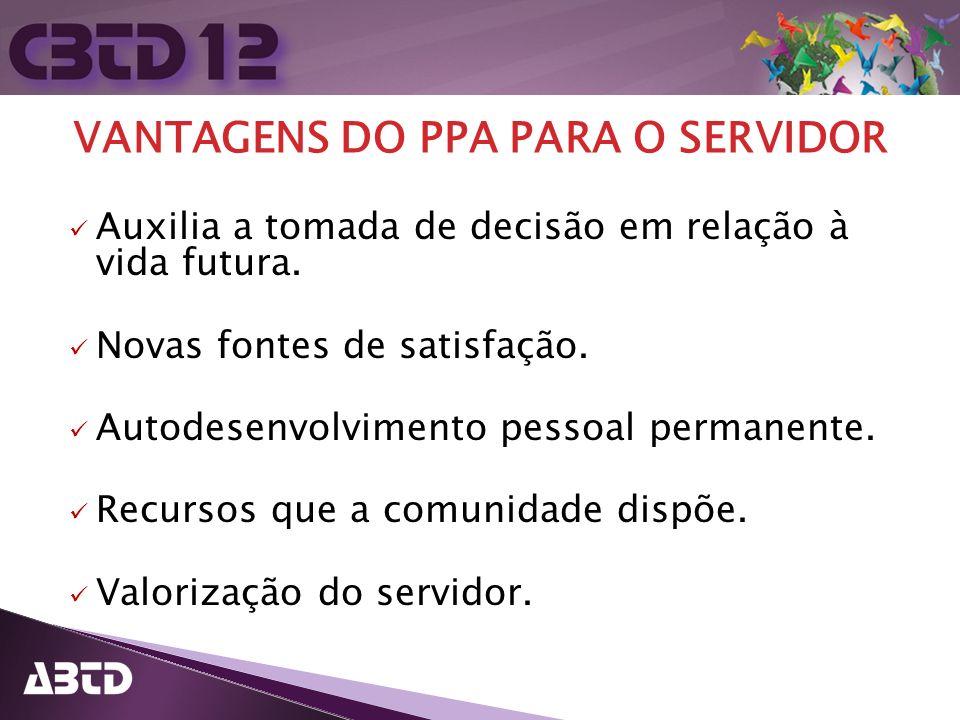 VANTAGENS DO PPA PARA O SERVIDOR