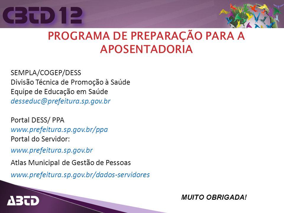 PROGRAMA DE PREPARAÇÃO PARA A APOSENTADORIA