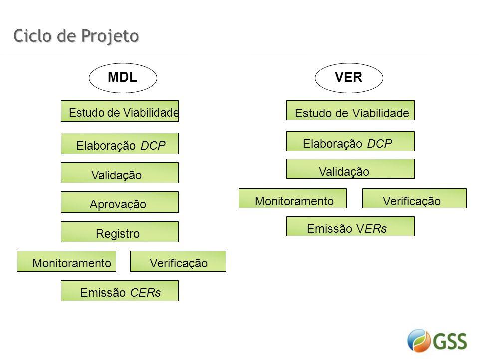 Ciclo de Projeto MDL VER Elaboração DCP Validação Aprovação Registro
