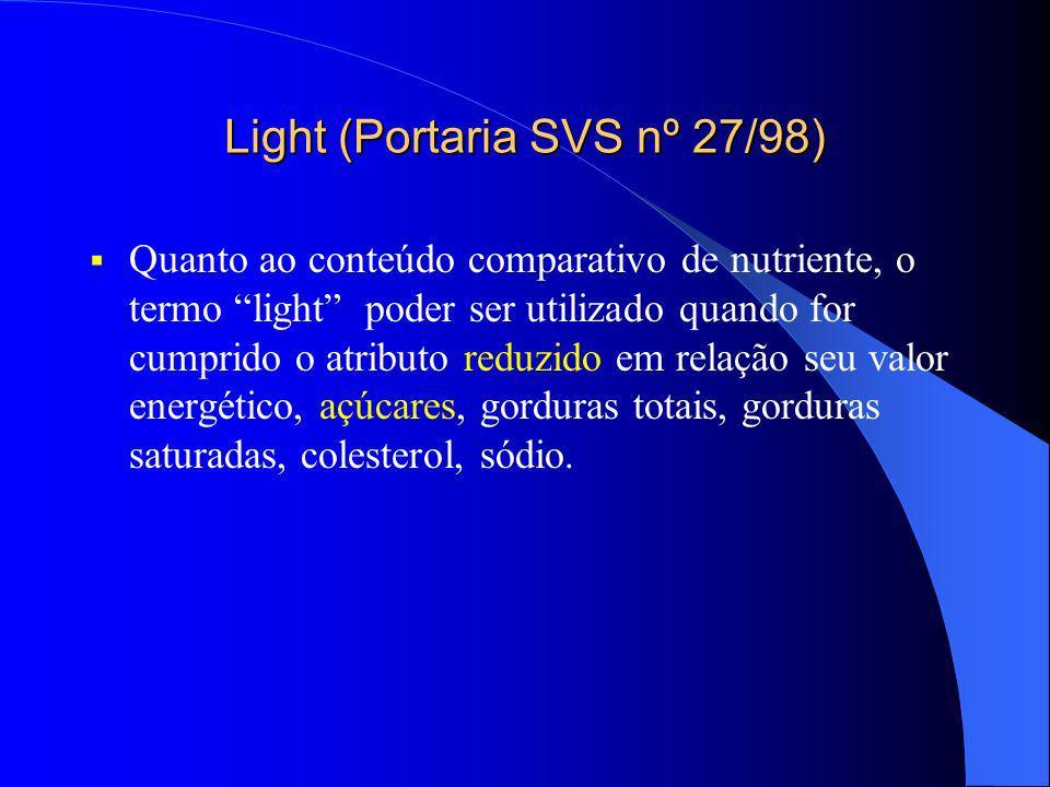 Light (Portaria SVS nº 27/98)