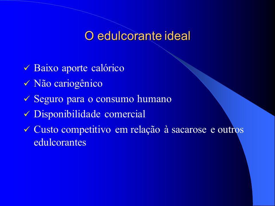 O edulcorante ideal Baixo aporte calórico Não cariogênico