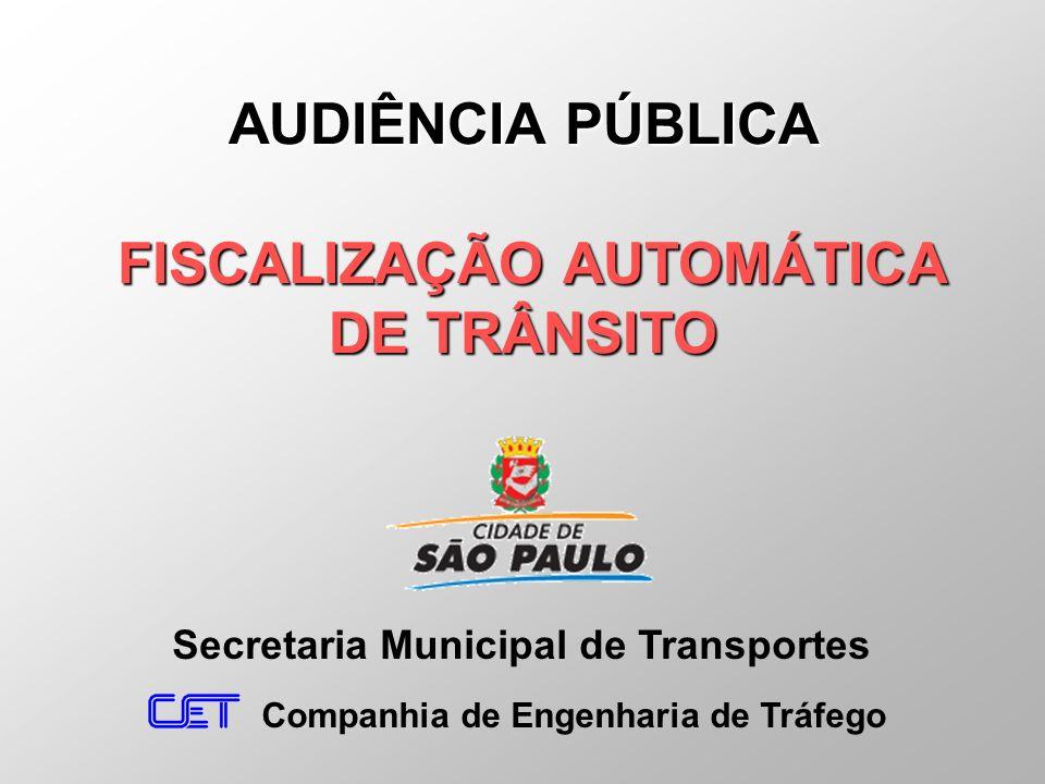 AUDIÊNCIA PÚBLICA FISCALIZAÇÃO AUTOMÁTICA DE TRÂNSITO