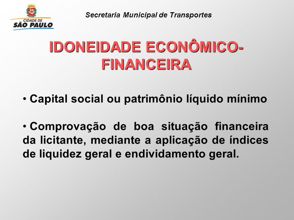 IDONEIDADE ECONÔMICO-FINANCEIRA