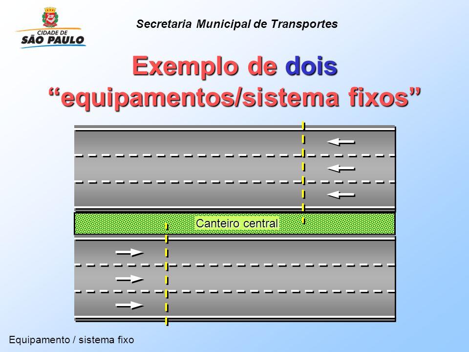 Exemplo de dois equipamentos/sistema fixos