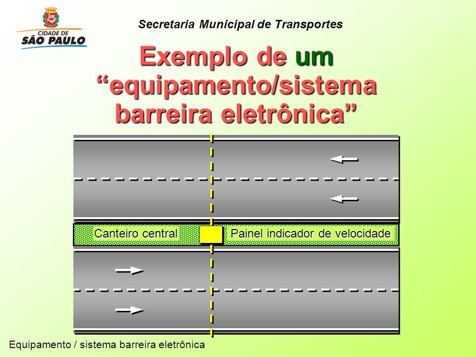 Exemplo de um equipamento/sistema barreira eletrônica