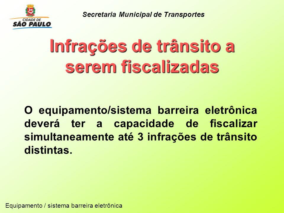 Infrações de trânsito a serem fiscalizadas