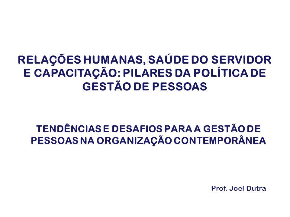 RELAÇÕES HUMANAS, SAÚDE DO SERVIDOR