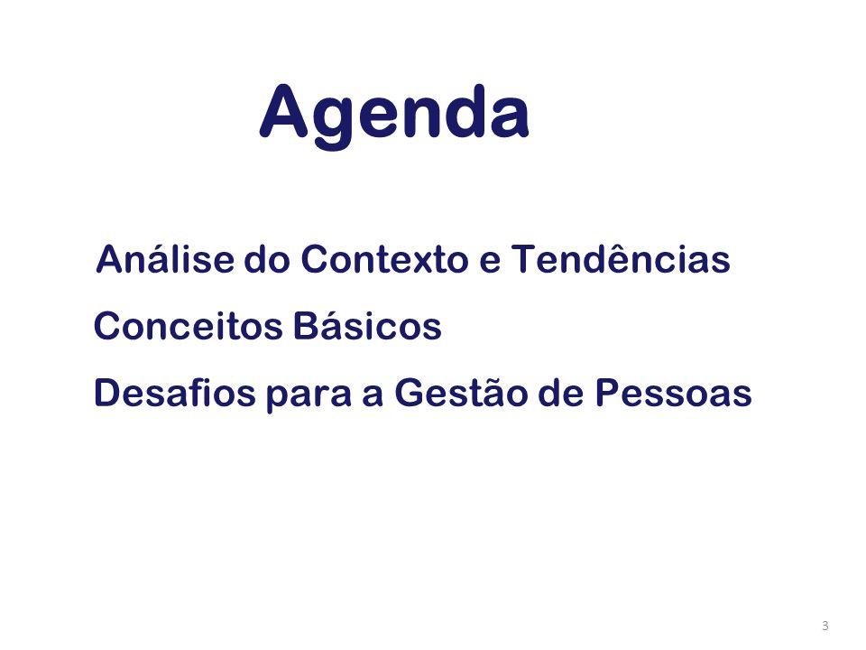 Agenda Conceitos Básicos Desafios para a Gestão de Pessoas