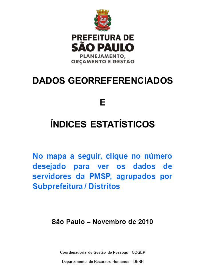 DADOS GEORREFERENCIADOS E ÍNDICES ESTATÍSTICOS