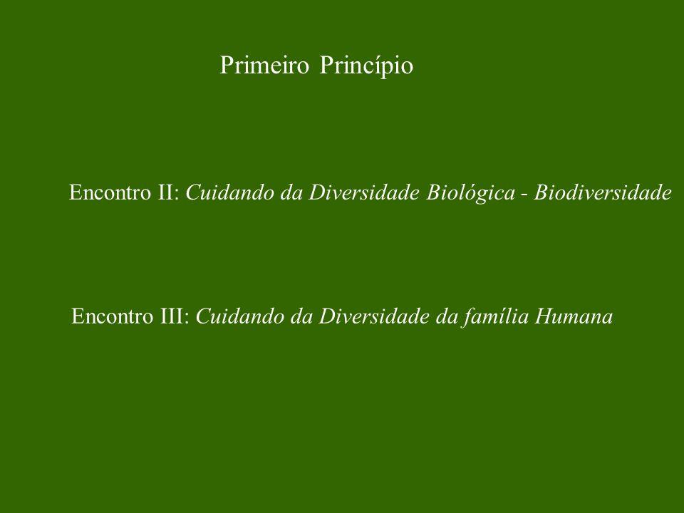 Primeiro Princípio Encontro II: Cuidando da Diversidade Biológica - Biodiversidade.