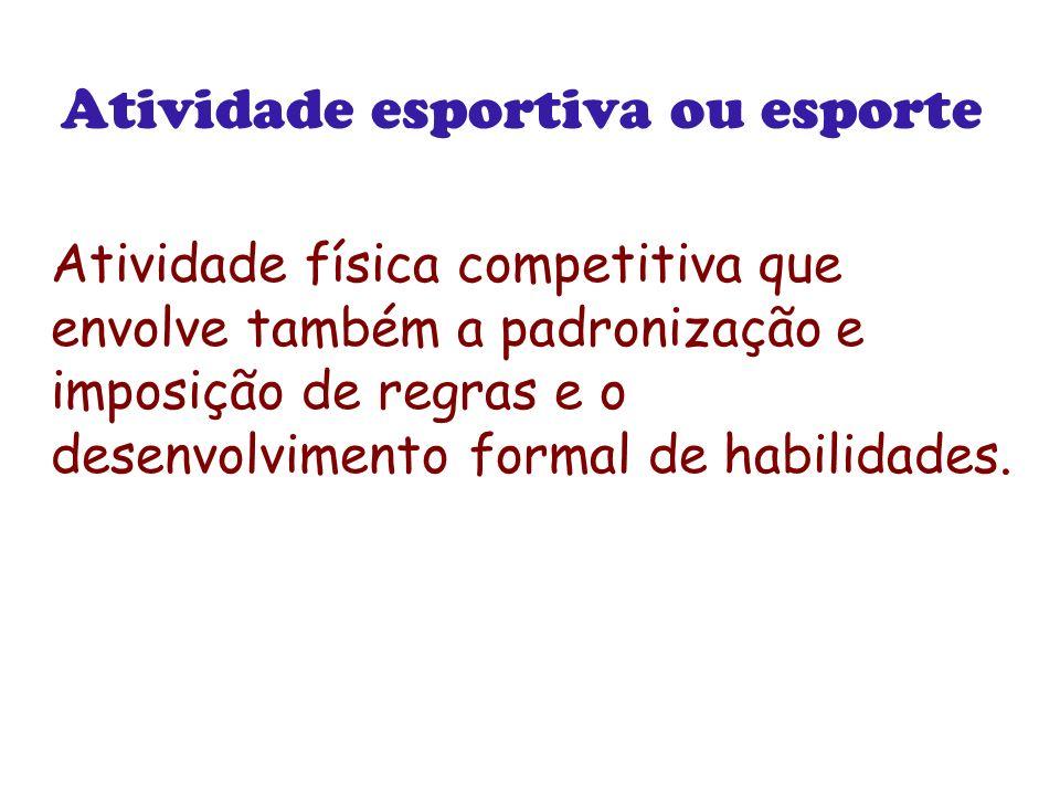 Atividade esportiva ou esporte