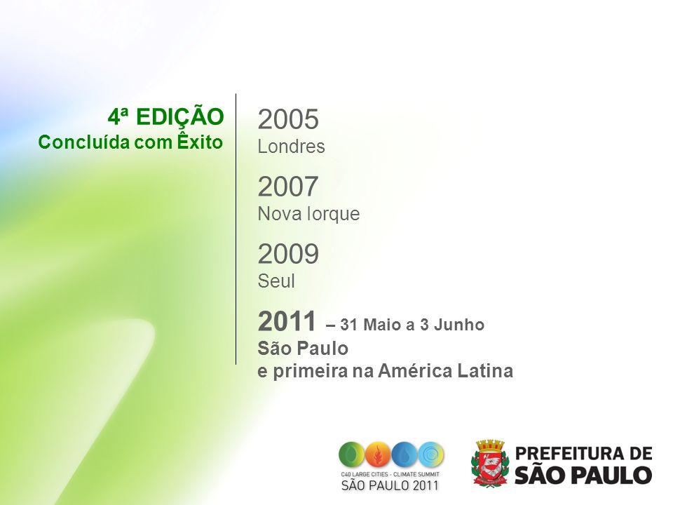 2005 2007 2009 2011 – 31 Maio a 3 Junho 4ª EDIÇÃO Concluída com Êxito