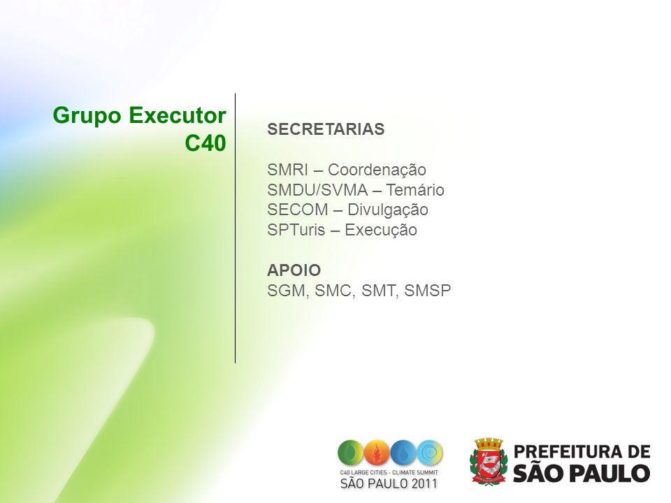 Grupo Executor C40 SECRETARIAS SMRI – Coordenação SMDU/SVMA – Temário