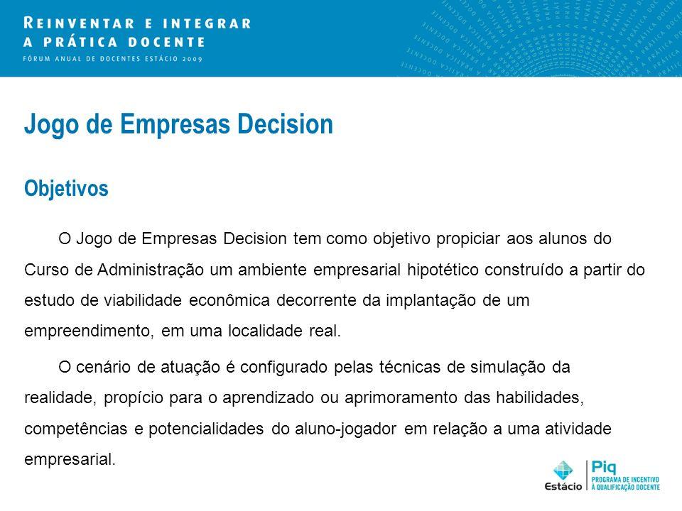 Jogo de Empresas Decision Objetivos