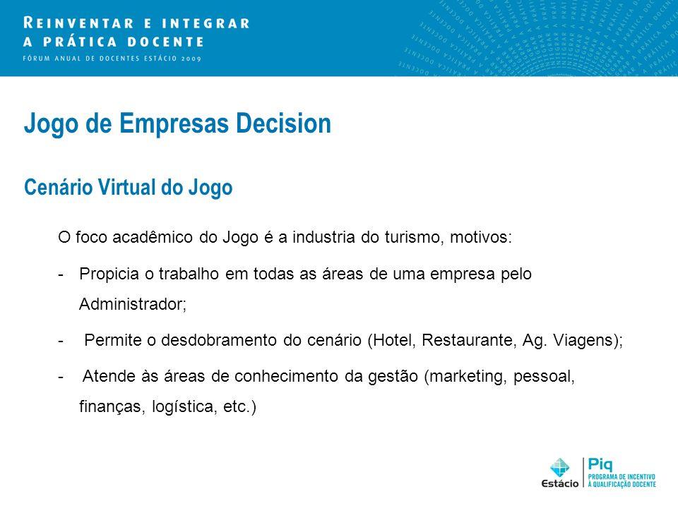 Jogo de Empresas Decision Cenário Virtual do Jogo