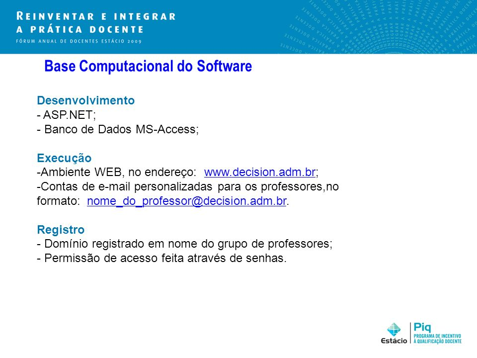 Base Computacional do Software