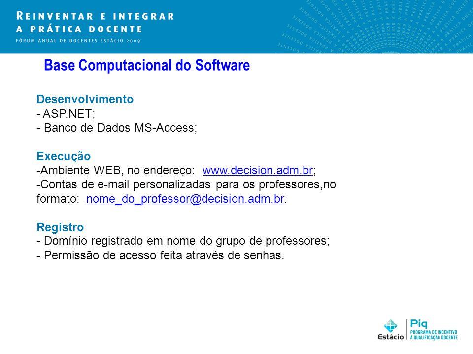 Base Computacional do Software