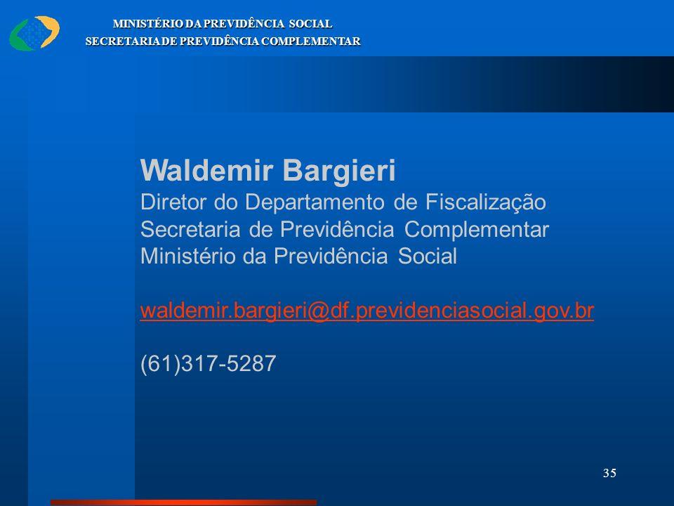 Waldemir Bargieri Diretor do Departamento de Fiscalização