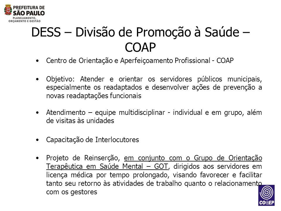 DESS – Divisão de Promoção à Saúde – COAP