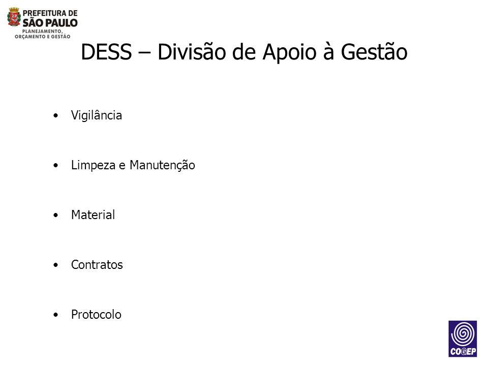 DESS – Divisão de Apoio à Gestão