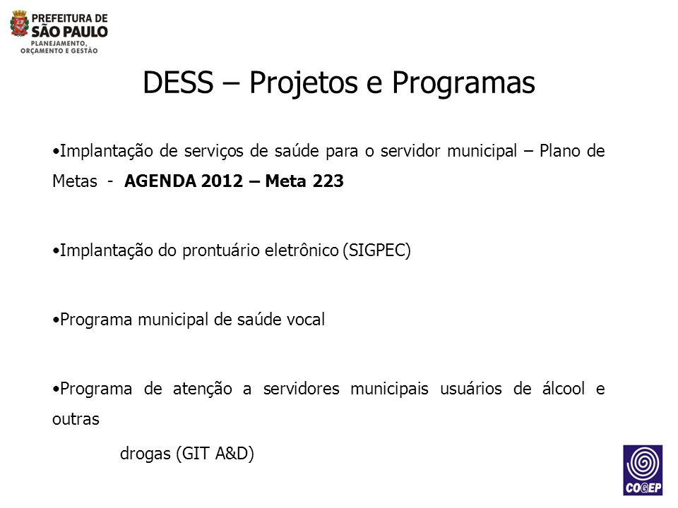 DESS – Projetos e Programas