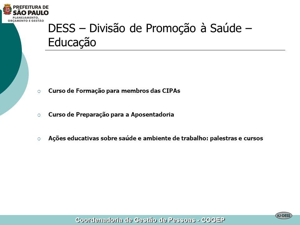 DESS – Divisão de Promoção à Saúde – Educação