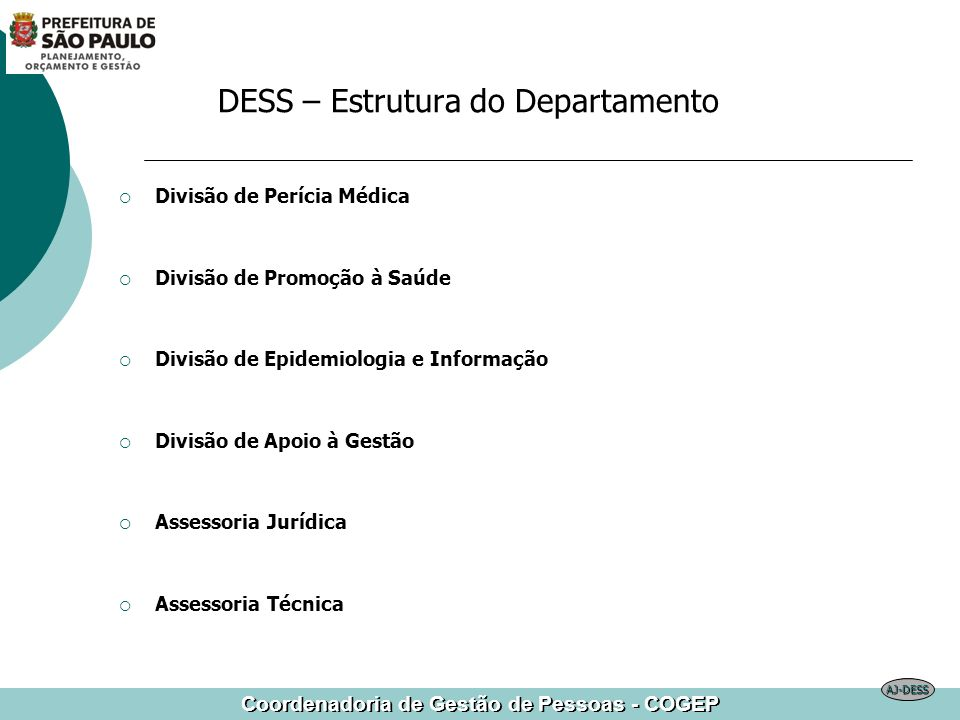 DESS – Estrutura do Departamento