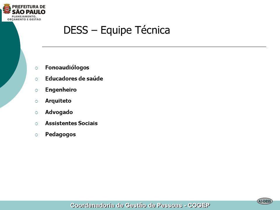 DESS – Equipe Técnica Fonoaudiólogos Educadores de saúde Engenheiro