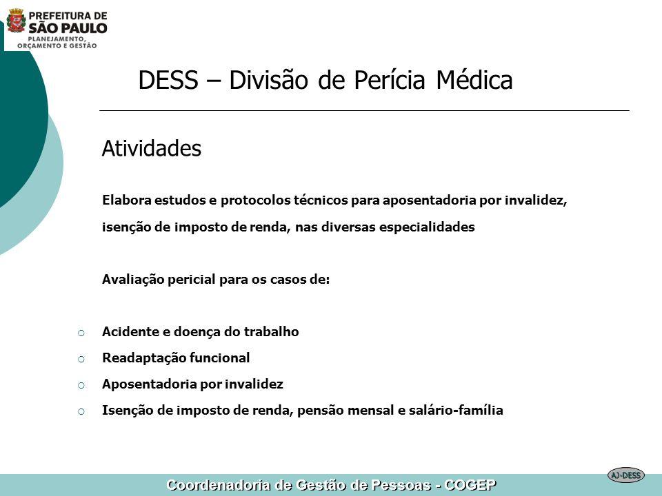 DESS – Divisão de Perícia Médica